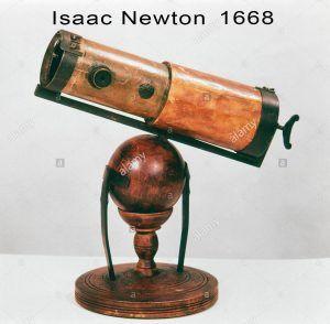 telescopio reflector de Isaac Newton