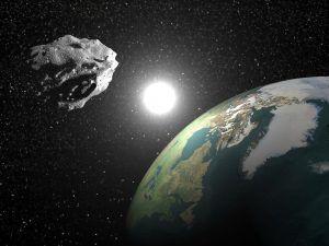 asteroide acercandose a la tierra