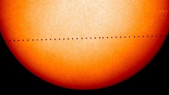 alineación de Mercurio con el Sol