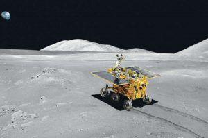 rover chino aterriza en la luna