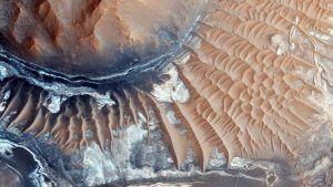 Marte agua en su polo sur