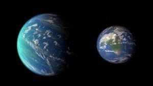 exoplaneta kepler 452b y la tierra