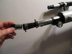 Insertar el ocular despues del lente barlow 3x