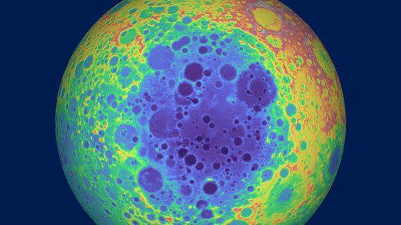 Masa en el Polo sur de la Luna