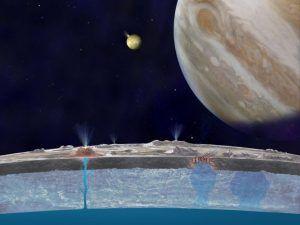 El mar de la luna europa de jupiter contiene sal