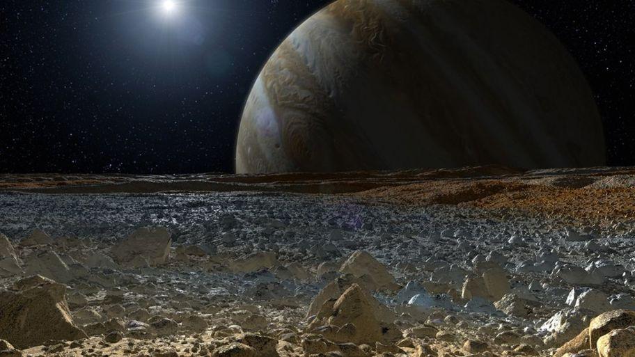 La luna de Jupiter Europa contiene sal