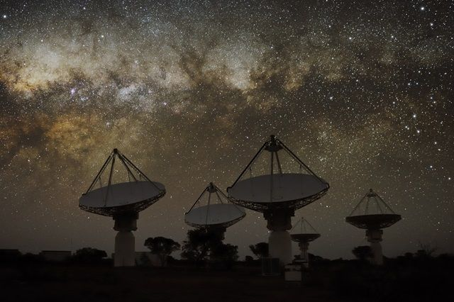 observatorio telescopico ASKAP-australia detecta ráfagas de radio