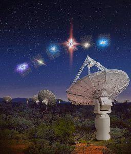 ráfagas de radio detectadas por el telescopio askap