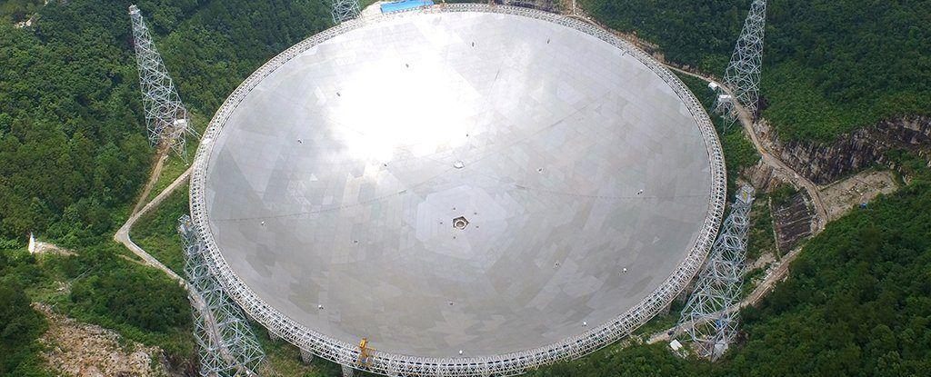 Telescopio chino Fast Aperture Spherical Radio Telescope (FAST)