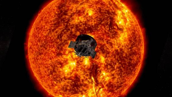 Sonda Parker entrando al Sol